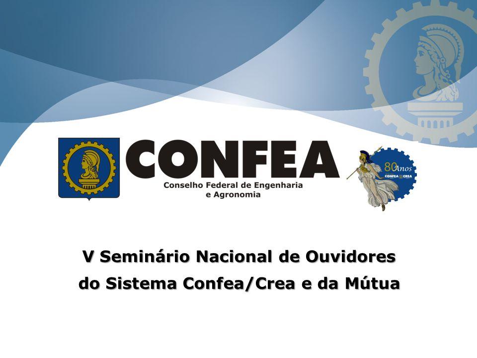 V Seminário Nacional de Ouvidores do Sistema Confea/Crea e da Mútua
