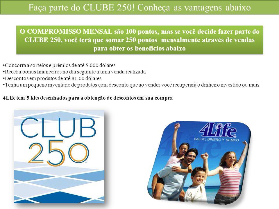 Faça parte do CLUBE 250! Conheça as vantagens abaixo