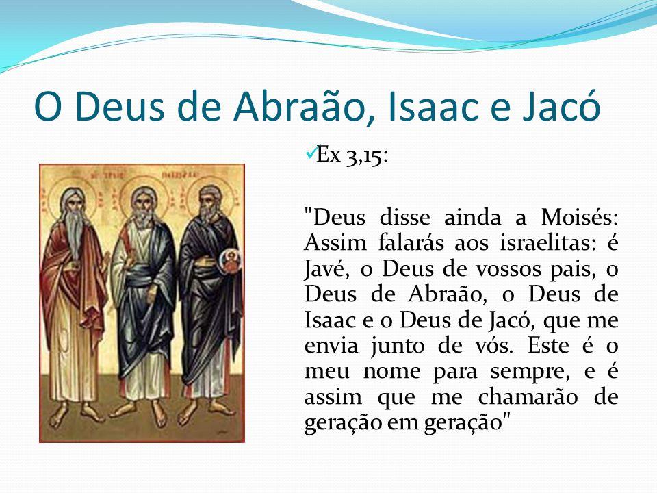O Deus de Abraão, Isaac e Jacó