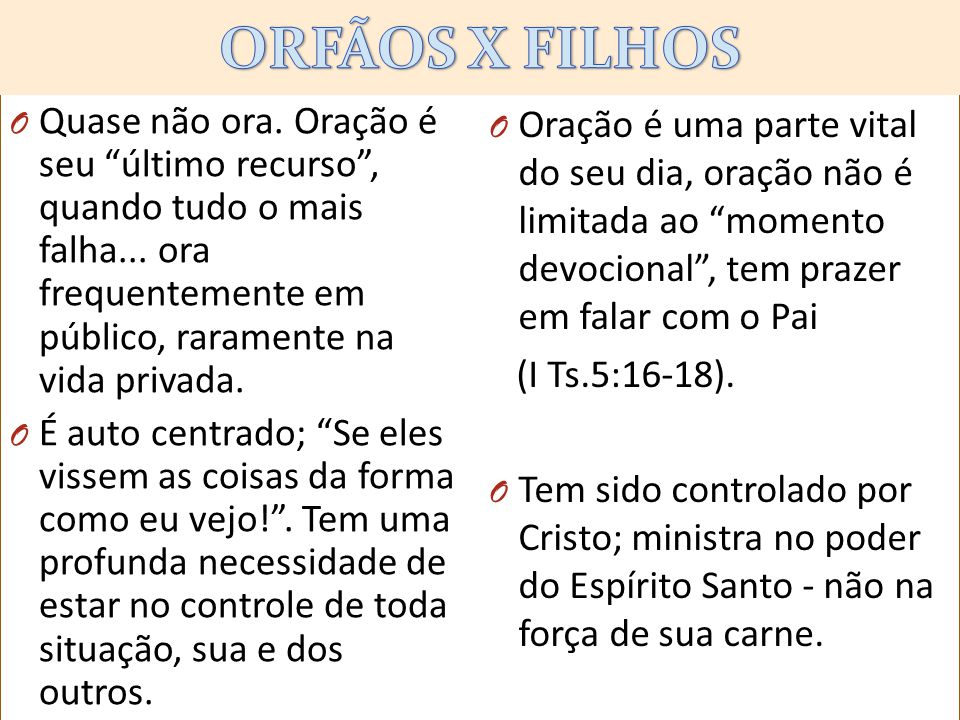 ORFÃOS X FILHOS kjlklkl.