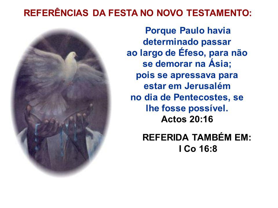 REFERÊNCIAS DA FESTA NO NOVO TESTAMENTO: