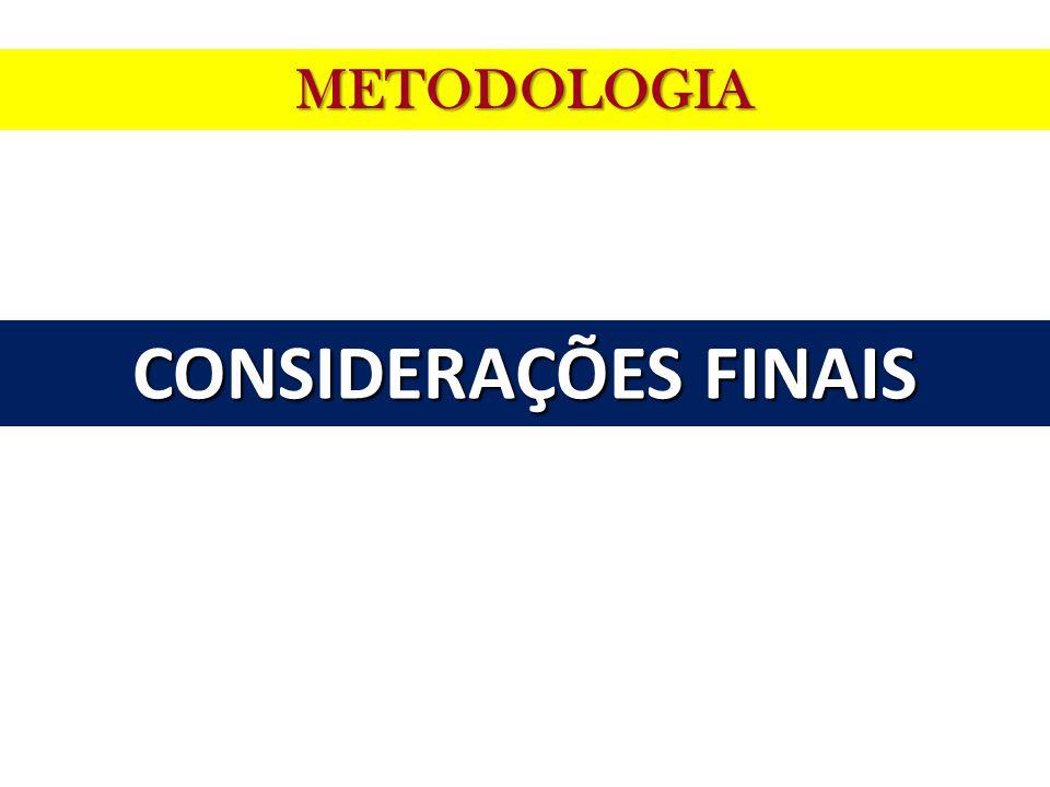 METODOLOGIA CONSIDERAÇÕES FINAIS