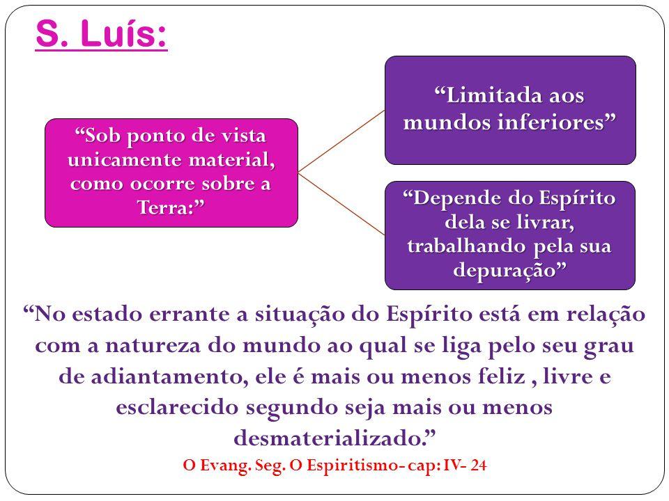 S. Luís: Limitada aos mundos inferiores