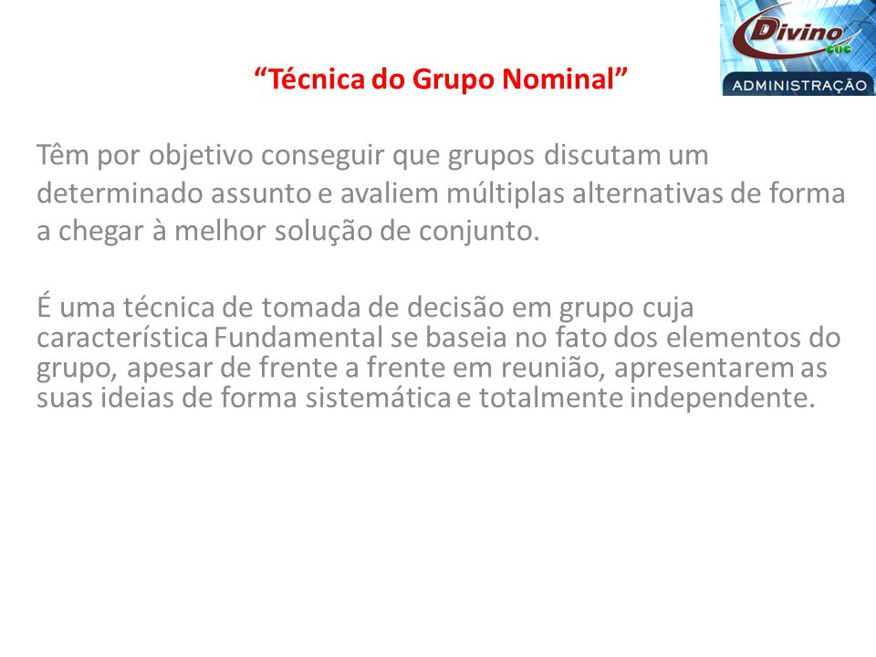 Técnica do Grupo Nominal