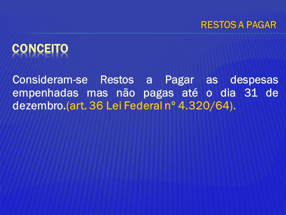 05/04/2017 RESTOS A PAGAR. conceito.
