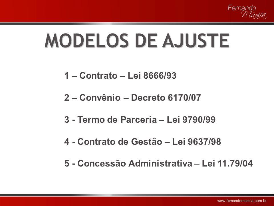 MODELOS DE AJUSTE 1 – Contrato – Lei 8666/93