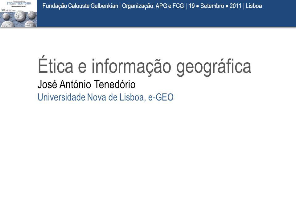 Ética e informação geográfica