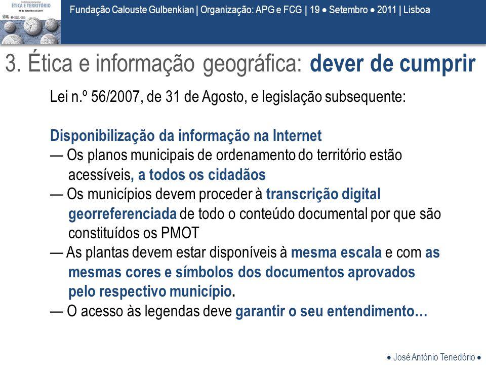 3. Ética e informação geográfica: dever de cumprir
