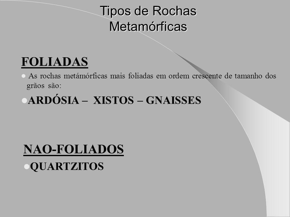 Tipos de Rochas Metamórficas
