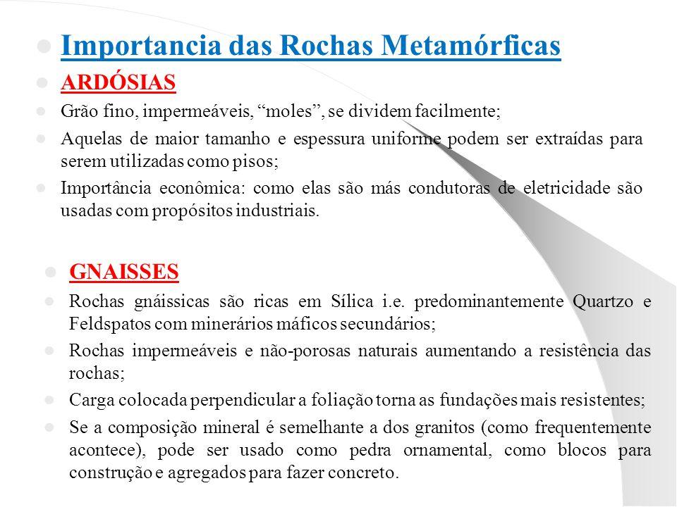 Importancia das Rochas Metamórficas