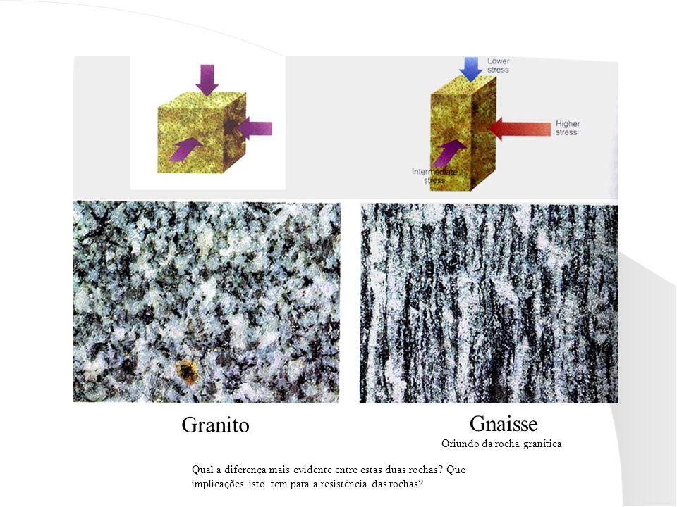Granito Gnaisse Oriundo da rocha granítica