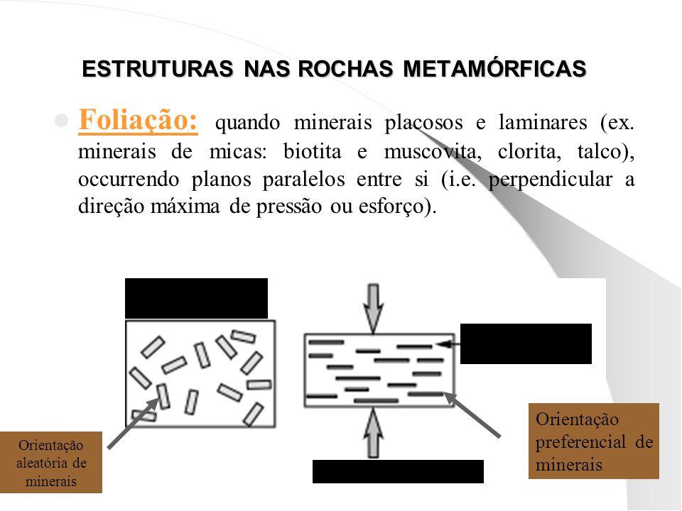 ESTRUTURAS NAS ROCHAS METAMÓRFICAS