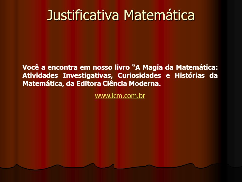 Justificativa Matemática