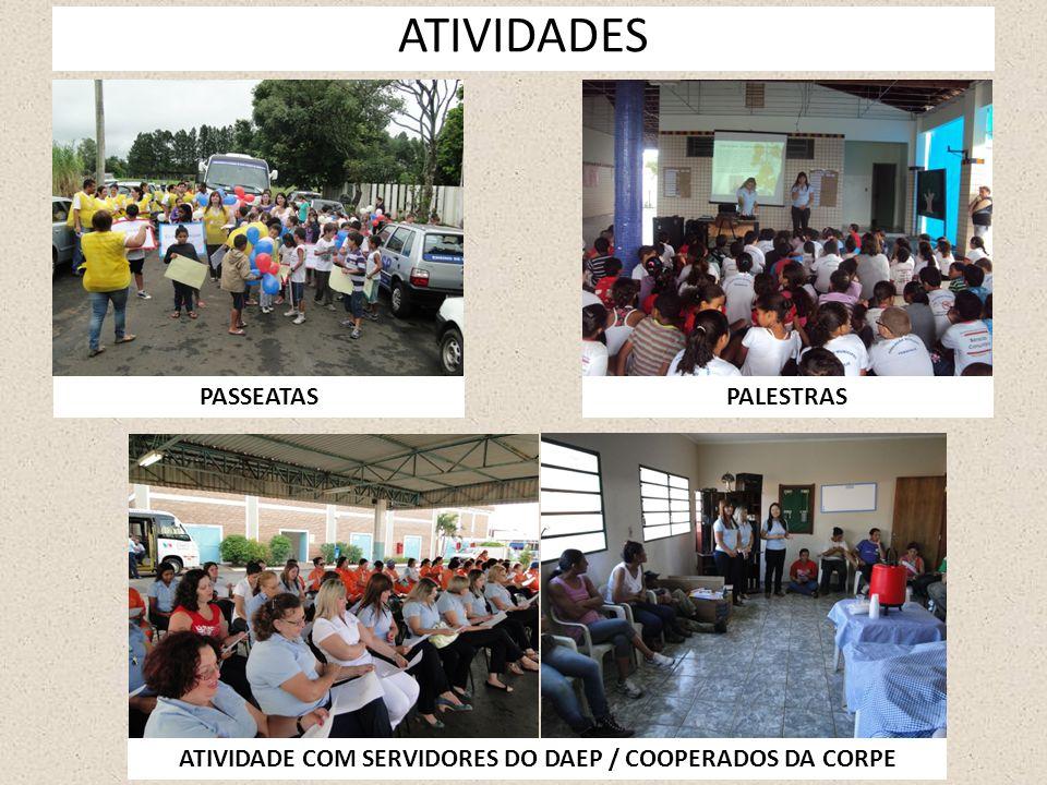 ATIVIDADE COM SERVIDORES DO DAEP / COOPERADOS DA CORPE