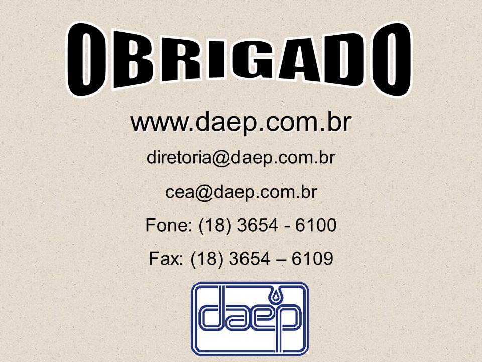 www.daep.com.br OBRIGADO diretoria@daep.com.br cea@daep.com.br