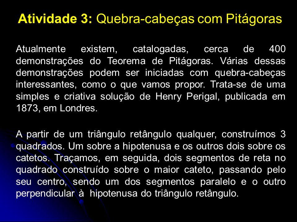 Atividade 3: Quebra-cabeças com Pitágoras
