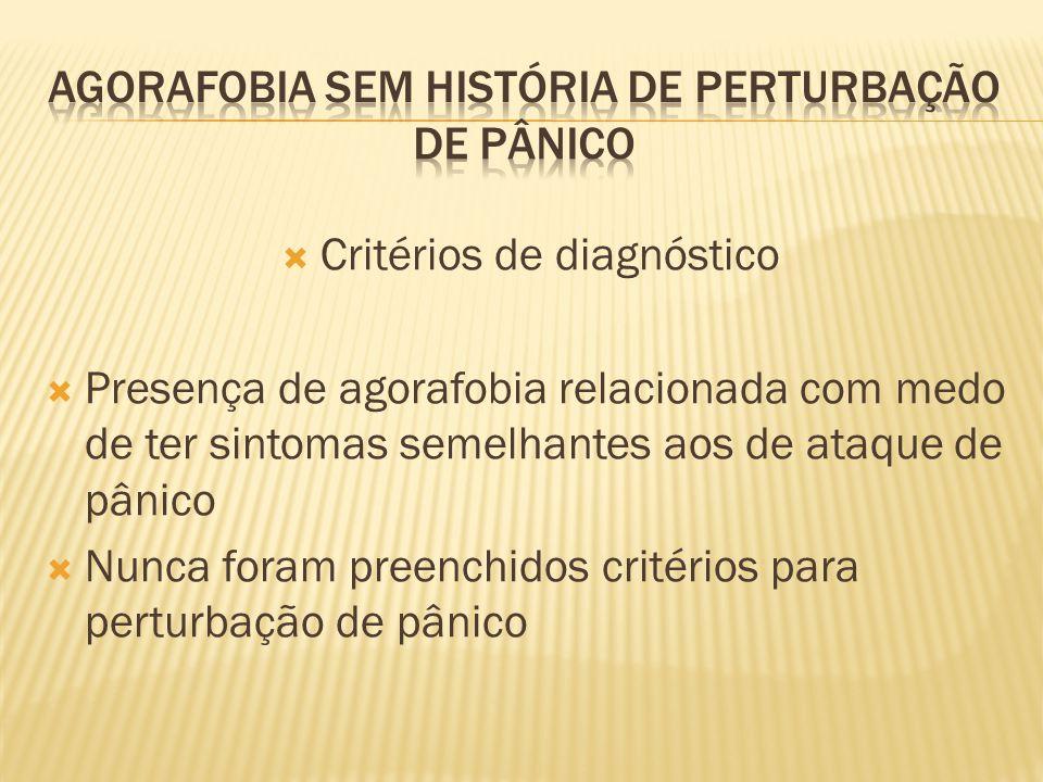 Agorafobia sem história de perturbação de pânico
