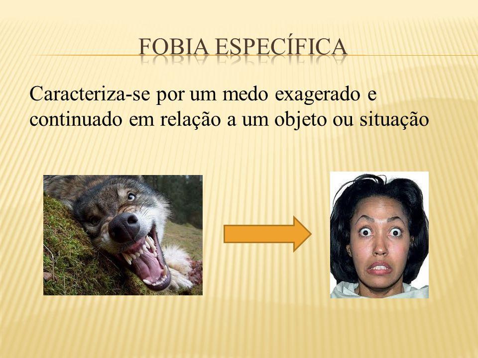 FOBIA ESPECÍFICA Caracteriza-se por um medo exagerado e continuado em relação a um objeto ou situação.