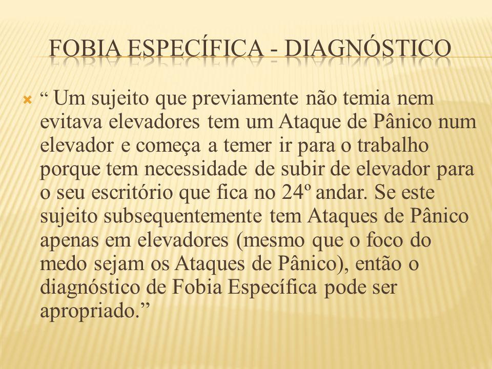 FOBIA ESPECÍFICA - DIAGNÓSTICO