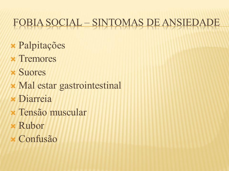Fobia social – sintomas de ansiedade