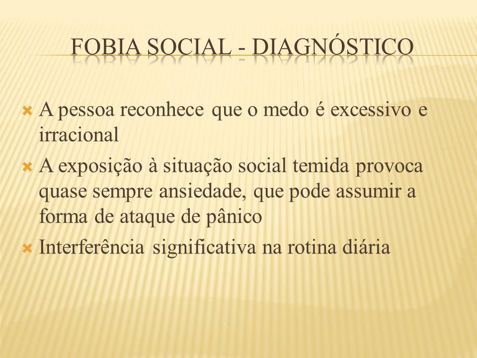 Fobia social - diagnóstico