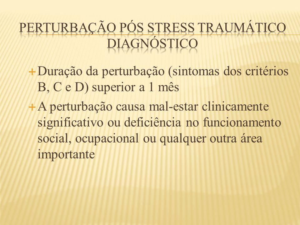 Perturbação pós stress traumático diagnóstico