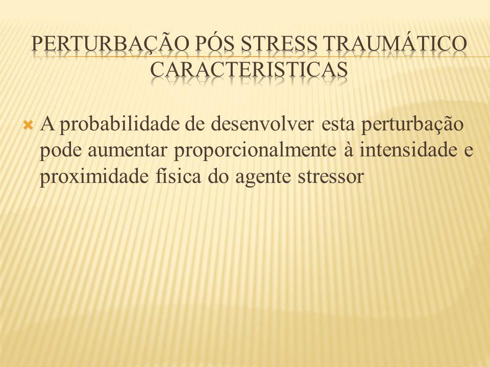 Perturbação pós stress traumático caracteristicas