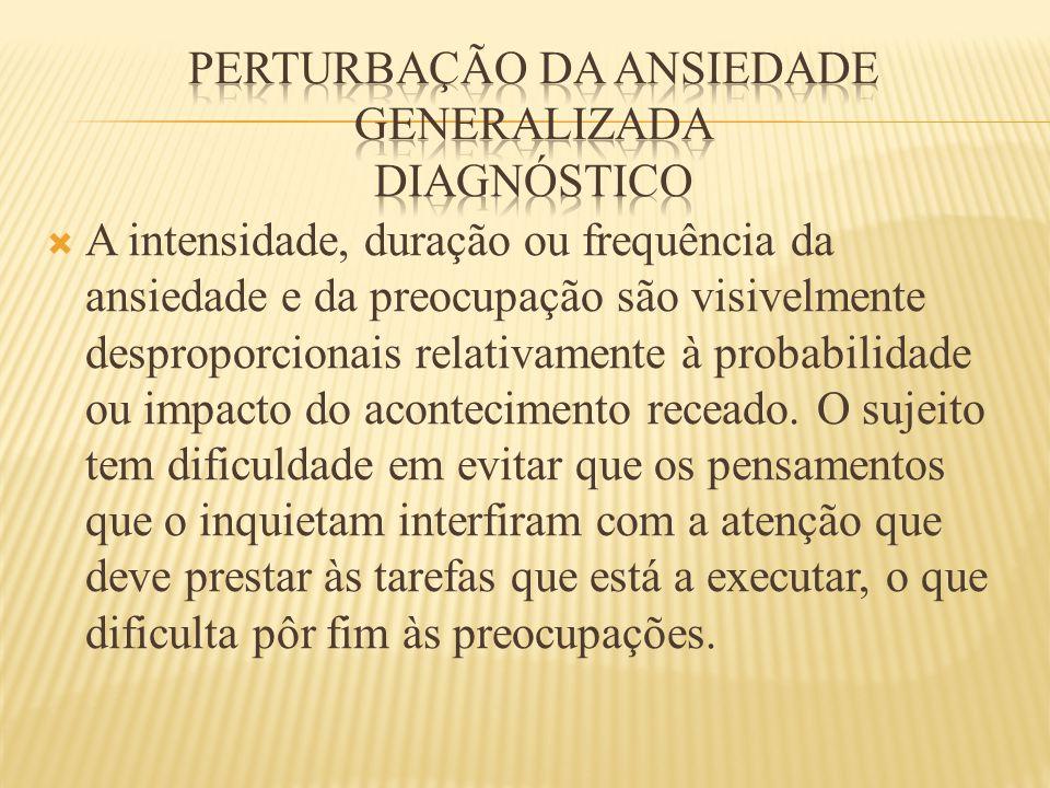 Perturbação da ansiedade generalizada diagnóstico