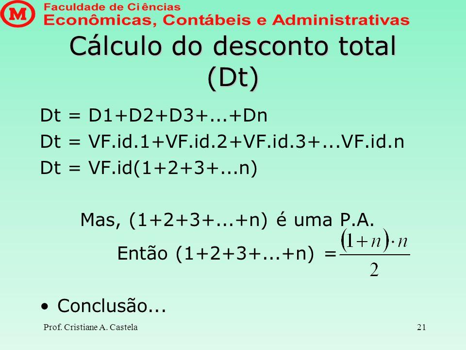 Cálculo do desconto total (Dt)