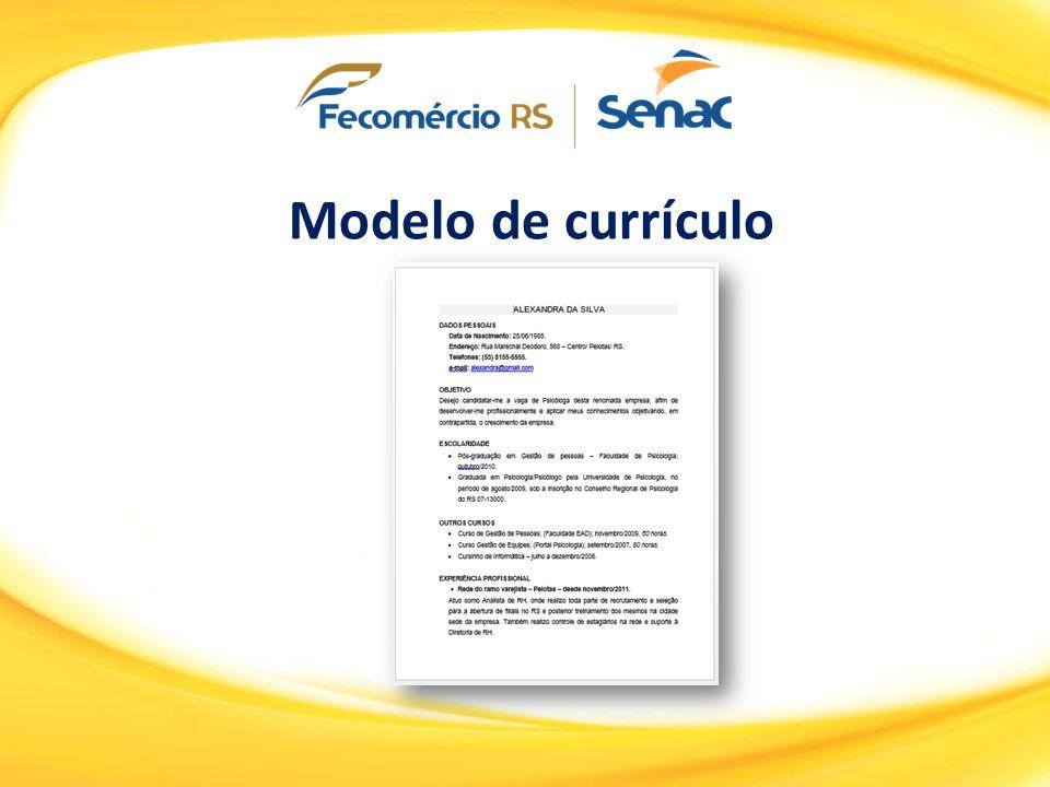 Modelo de currículo