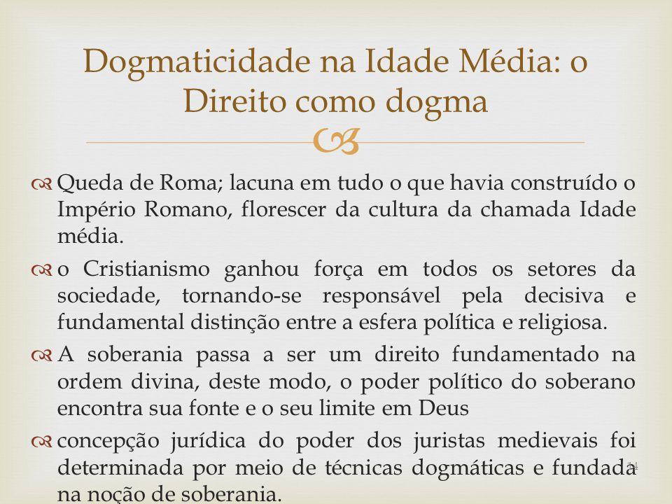 Dogmaticidade na Idade Média: o Direito como dogma