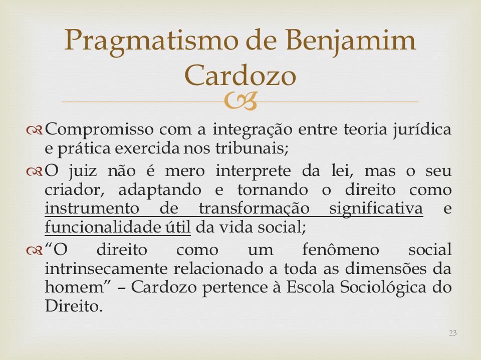 Pragmatismo de Benjamim Cardozo