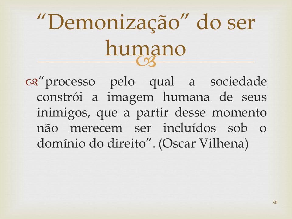 Demonização do ser humano