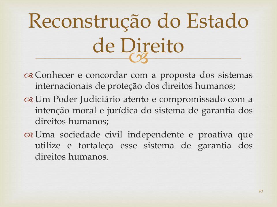 Reconstrução do Estado de Direito