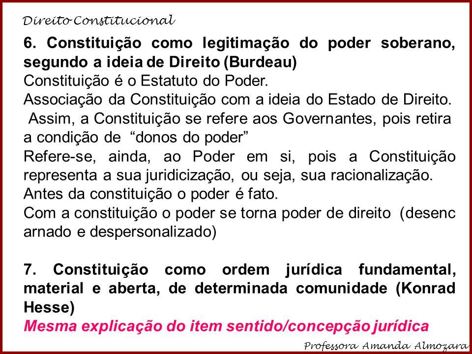 Constituição é o Estatuto do Poder.