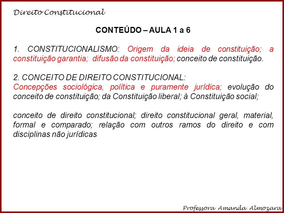 2. CONCEITO DE DIREITO CONSTITUCIONAL: