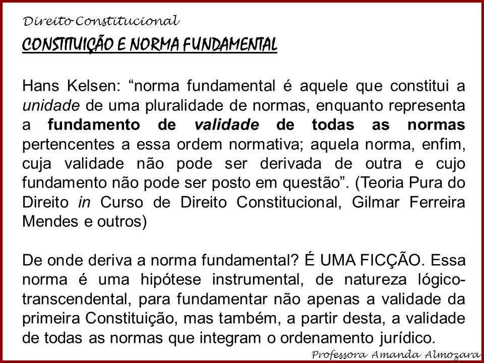 CONSTITUIÇÃO E NORMA FUNDAMENTAL