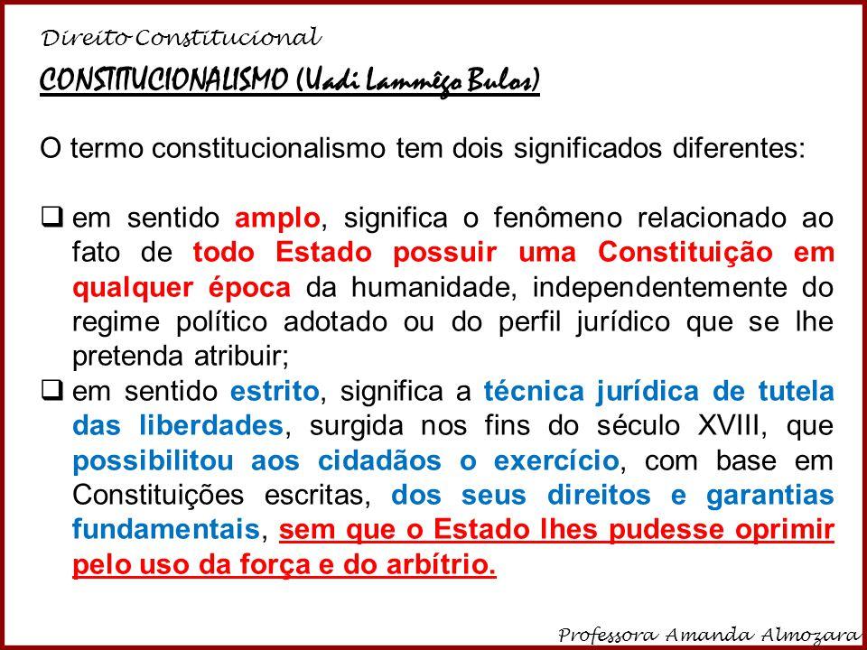 CONSTITUCIONALISMO (Uadi Lammêgo Bulos)