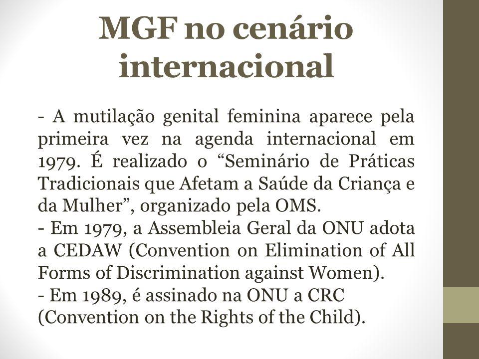 MGF no cenário internacional