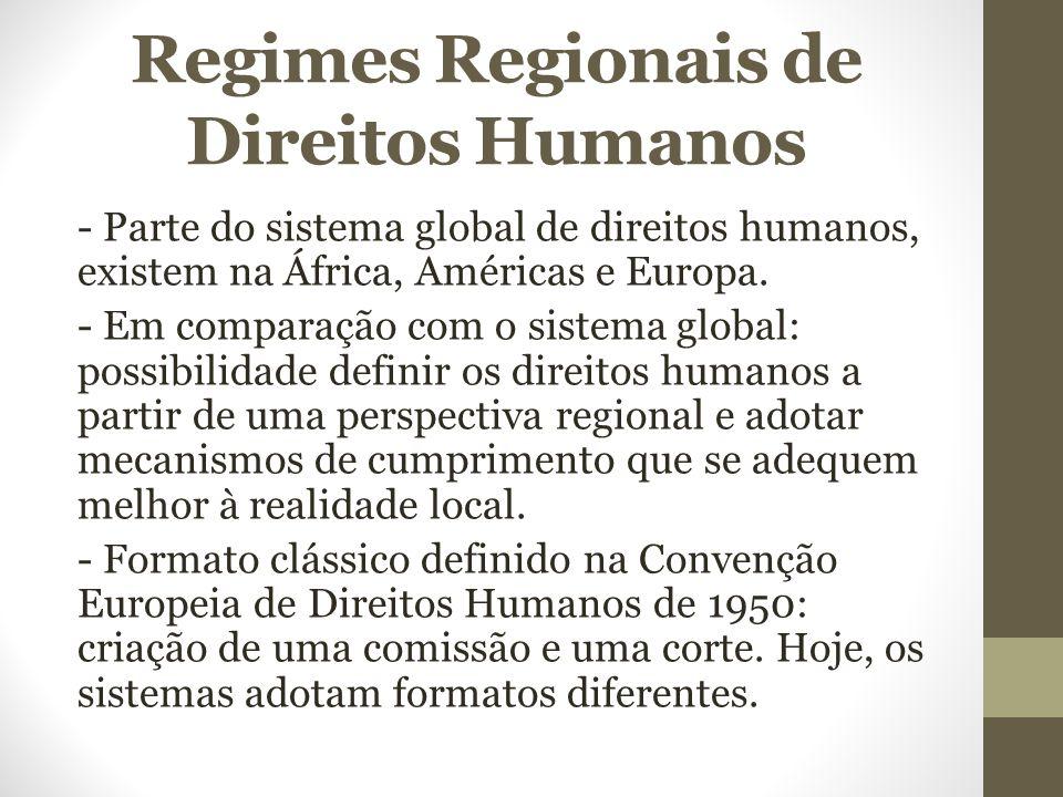 Regimes Regionais de Direitos Humanos