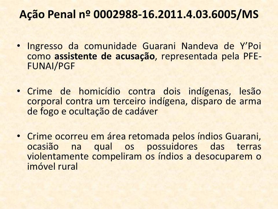 Ação Penal nº 0002988-16.2011.4.03.6005/MS
