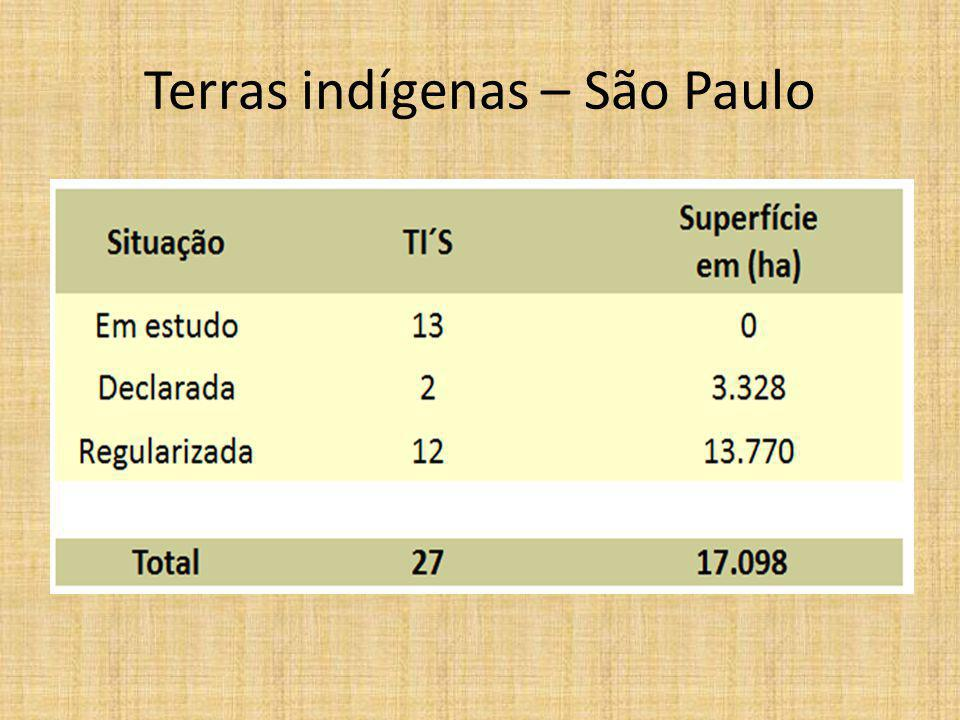 Terras indígenas – São Paulo