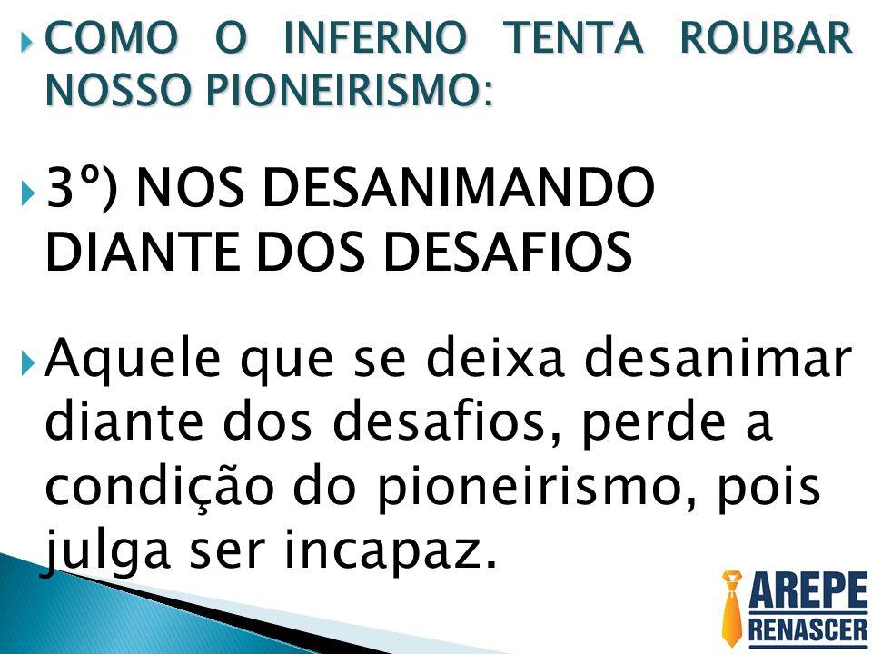 3º) NOS DESANIMANDO DIANTE DOS DESAFIOS