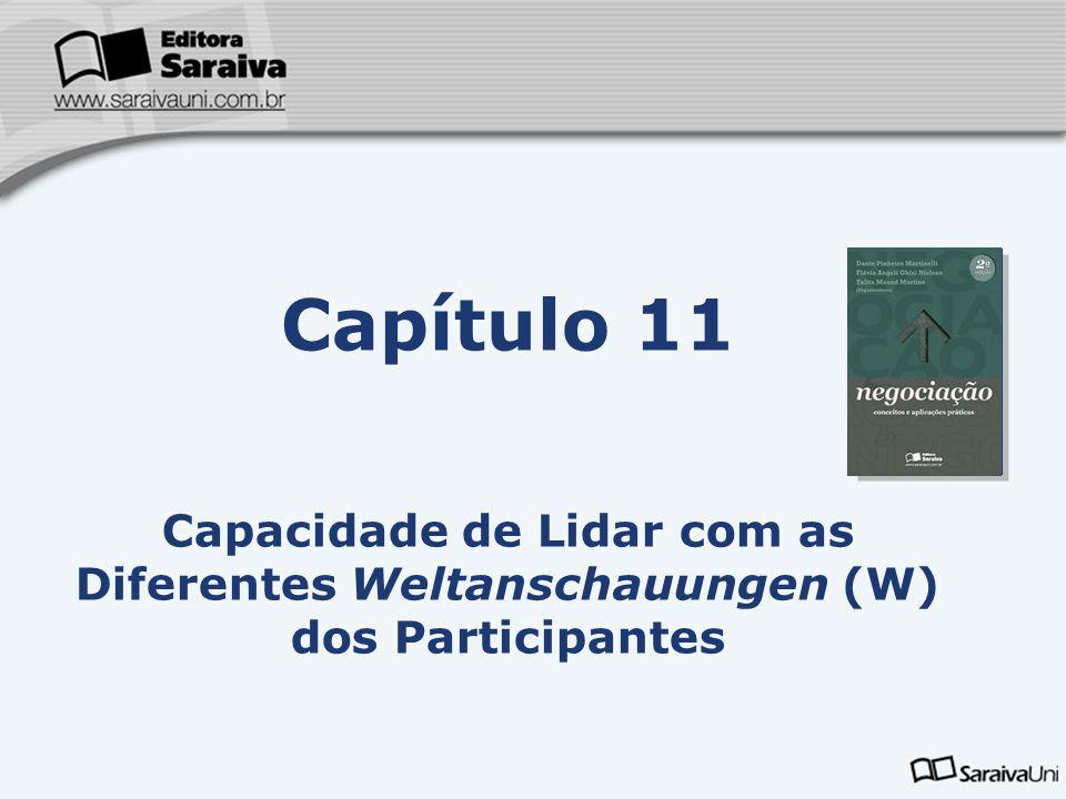Capítulo 11 Capacidade de Lidar com as Diferentes Weltanschauungen (W) dos Participantes