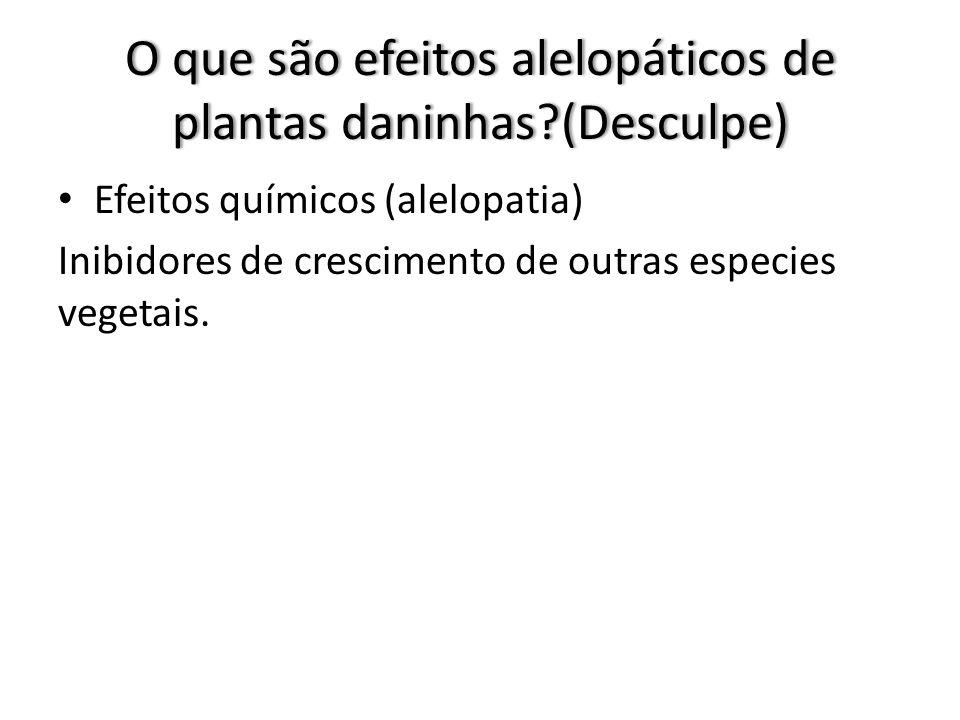 O que são efeitos alelopáticos de plantas daninhas (Desculpe)