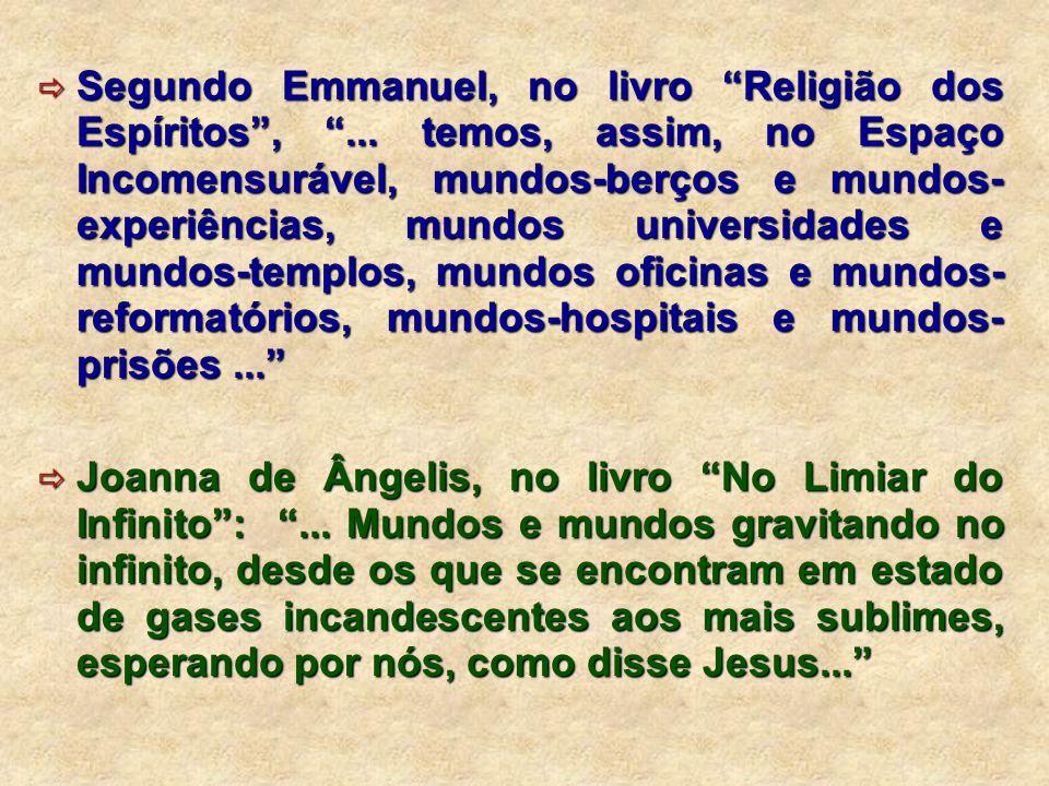 Segundo Emmanuel, no livro Religião dos Espíritos ,