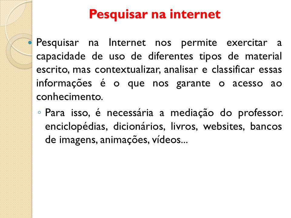 Pesquisar na internet