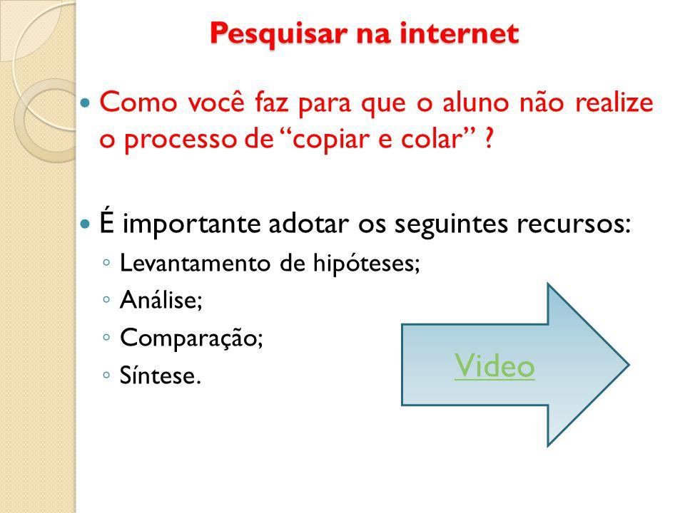 Video Pesquisar na internet