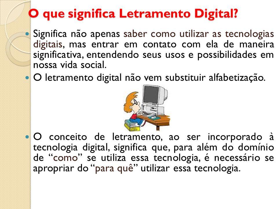 O que significa Letramento Digital