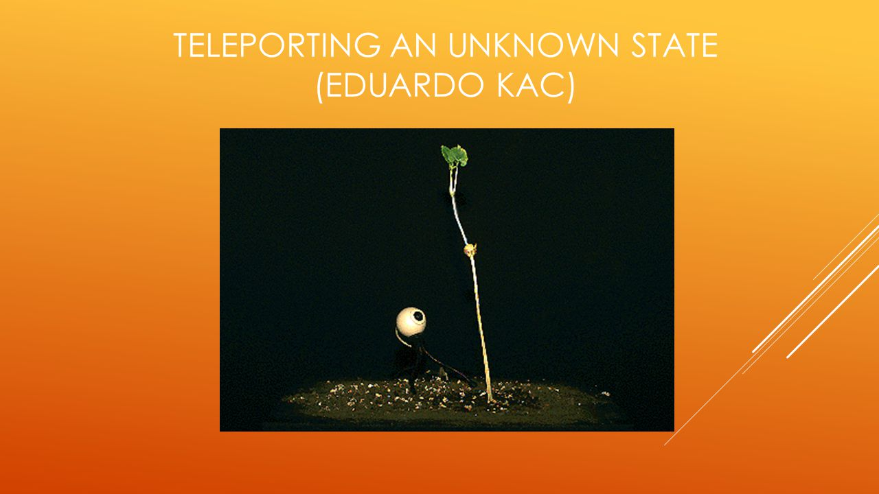 Teleporting an Unknown State (Eduardo kac)